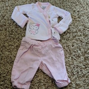 Carter's Newborn Girl Pants & Cardigan Outfit